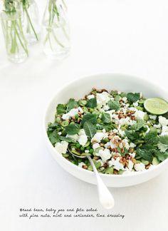 Broad bean, Pea & Mint Salad