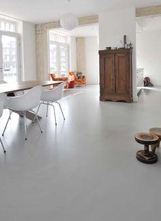 Combi antiek, modern, gietvloer, ruimte