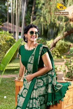 Surat Textile Hub Sr sarees presents sanjivani pure Dola silk printed traditional wear silk sarees catalog wholesaler Cotton Saree Blouse Designs, Bridal Blouse Designs, Blouse Patterns, Simple Blouse Designs, Stylish Blouse Design, Designs For Dresses, Silk Sarees, Catalog, Printed