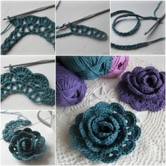 How to Crochet Pretty 3D Lace Rose Free Pattern