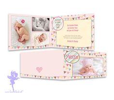 Baby- & Geburtskarten - BABYKARTE ❤ Geburtskarte   Geburtsanzeige Yvetta - ein Designerstück von Feenstaub-Papeterie bei DaWanda