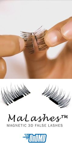 "MaLashes™ Magnetic Eyelashes give you luxurious length and volume, without that ""false lash"" effect!  No need for irritating glue!"