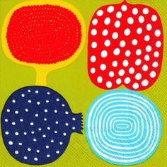 KOMPOTTI-Marimekko-geometric-paper-lunch-napkins-new-20-in-pack-33cm