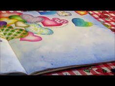 Tutorial livro O feitiço do tempo. Como pintar fundo com giz pastel seco, fazer…