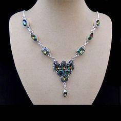 Regenbogen Mystic Topas, Halskette, Collier, Silber plattiert in Uhren & Schmuck, Modeschmuck, Halsketten & Anhänger | eBay