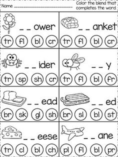 Digraphs Worksheets, Blends Worksheets, Preschool Worksheets, English Worksheets For Kindergarten, Teaching Phonics, Homeschool Kindergarten, Teaching Kids, Homeschooling, Jolly Phonics