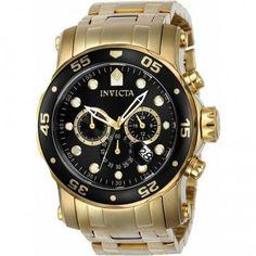 e1f64bf3705 Relógio Invicta Pro Diver 23650 - Ouro 18k