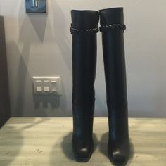 Brand New Valentino Black Leather Boots Beautiful brand new Valentino Boots Valentino Shoes Heeled Boots