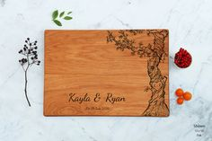 Engraved Wood Cutting Board Personalized by WoodLuckEngraved