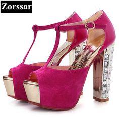 4bf5cdb3394c5 Size 33-43 fashion rhinestone Summer women shoes Peep toe high heel sandals  blue 2017new womens pumps heels luxury T-strap shoes