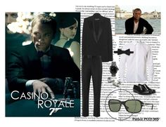 """""""James Bond, Casino Royale"""" by visiondirect ❤ liked on Polyvore featuring Tom Ford, Grenson, Brooklyn Tailors, Alexander McQueen, Persol, OMEGA, sunglasses, CelebrityStyle and 007"""