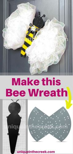 What's all the buzzzzz about? Well, this cute Bee 🐝 of course!!! Discover how to make this bee with Unique in the Creek LIVES! All you need is your Unique in the Creek Wreath board, our insect body, and your favorite craft supplies! Then, make your very own DIY bee wreath for your front door! It's that easy. Shop Unique in the Creek wreath boards and craft supplies today! #UITC #uniqueinthecreek #bee #bumblebee #wreath #Imadethis #makersgonnamake #wreathmakers #DIY #DIYwreath #TeamUnique Summer Crafts For Kids, Craft Projects For Kids, Crafts For Kids To Make, Kids Crafts, Diy And Crafts, Art Activities, Summer Activities, Flower Crafts, Diy Flowers