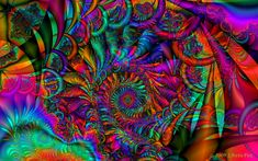Trippy Psychedelic Art | woodstock psychedelic dreams by 1arcticfox digital art fractal art ...