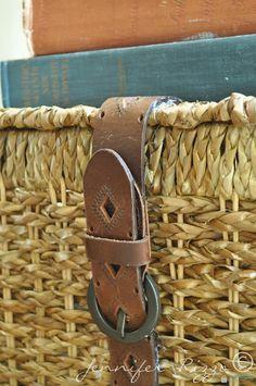 Jennifer Rizzo: Make a belted storage utility basket.....