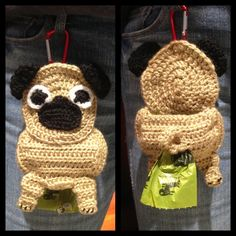 Mixed emotions on this one! LOL Pug+Poop+Bag+Holder+by+CraftyHongSisters+on+Etsy,+$15.00