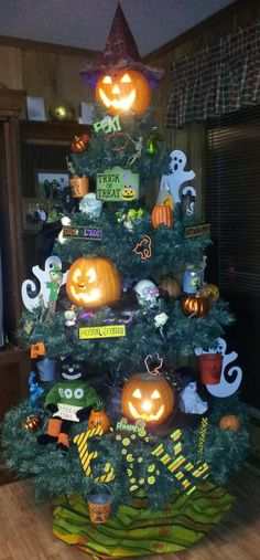 Not just for Christmas anymore, I use my tree for Halloween