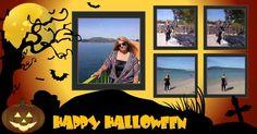 Mosaico de Halloween com 5 fotos
