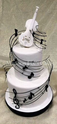 Music Themed Cake - For all your cake decorating supplies, Pretty Cakes, Cute Cakes, Beautiful Cakes, Amazing Cakes, Music Themed Cakes, Music Cakes, Music Birthday Cakes, Theme Cakes, Happy Birthday
