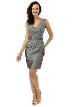 OYISHA Women's V-neck Sheath Mother of the Bride Lace Cocktail Dress MD003 * Check out the image by visiting the link. (This is an affiliate link) #CocktailDress