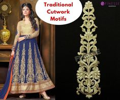 Get ready to dazzle in this traditional cutwork motif embellished with the radiance of pearls. This motif can be used on Anarkali Suits, Lehengas and Sarees.