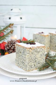 Polish Food, Polish Recipes, Poppy Seed Cake, Homemade Cakes, Cookie Decorating, Christmas Cookies, Cheesecake, Deserts, Table Decorations