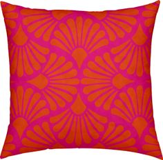 Bohemian Pink Orange Linen Throw Pillow by Rubyed on Etsy, $59.00