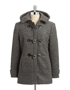 Women's | Coats & Jackets | Boucle Duffel Coat with Toggles | Hudson's Bay