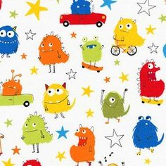 Sea Urchin Studio - Monsters - Monsters and Stars in Primary