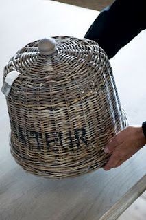 Little Cottage ( Riviera Maison) Big Basket, Basket Bag, Rivera Maison, French Baskets, Market Baskets, Paper Basket, Basket Weaving, Wicker Baskets, Rattan