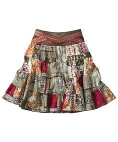 Joe Browns Colourful Life Skirt - lovely shades, floaty tiers and wonderful embroidery give this skirt a wonderful South American feel