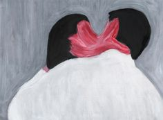 NICKIE ZIMOV  A Kiss  30x20 cm. oil on paper