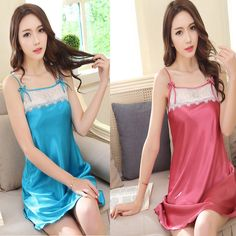 Find More Nightgowns & Sleepshirts Information about Imitation Silk Nightdress Women Summer Charming Student Sling Nightdress Large Size Backless Chemise De Nuit Femme Sleep Dress,High Quality Nightgowns & Sleepshirts from Bys Store Store on Aliexpress.com