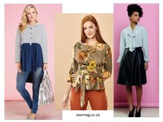 Envie de coudre un superbe chemisier, cliquez sur l'image pour découvrir de nouveau modèles à imprimer gratuitement Sewing Patterns Free, Free Pattern, Blouse Peplum, Long Sleeve, Sleeves, Passion, France, Motifs, Boutiques