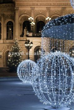 christmas sphere outdoor lights - Google Search
