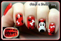 Adopt a Shelter Dog - Nail Art and Doggie Spam! #shelterdogs #dogadoption #shelteradoption #adoptashelterdogmonth #petadoption #nailart #nails #makeup #beauty @Sheila S.P. Gage