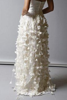 dress, strapless, wedding dress, flower, white, romantic, gown, elegant, Wedding Gown, fall 2013, drape, lavish, st pucchi, 9432, lotus, Fall