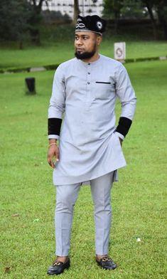 Nigerian Men Fashion, African Men Fashion, Womens Fashion, Men Wear, Boys Wear, African Attire For Men, Swag Outfits Men, African Shirts, Men Looks