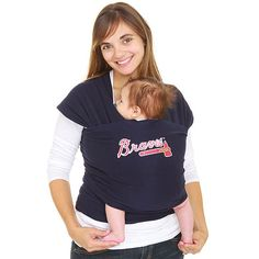 Someone can buy me this for our next child!   Atlanta Braves MLB Edition Moby Baby Wrap Carrier   - MLB.com Shop