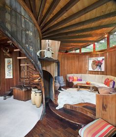 From Richard Olsen's Handmade Houses  Photo: © 2012 Kodiak Greenwood INTERIOR OF THE MUENNIG HOUSE IN BIG SUR. All images ...