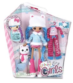 NIB Lalaloopsy Girls Mittens Fluff 'N Stuff Doll Set with extra Outfit #MGA #DollswithClothingAccessories