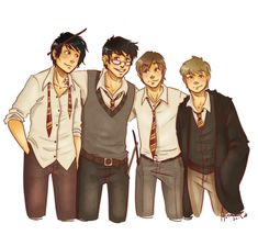 the boys are back in town by Avender.deviantart.com on @deviantART. The Marauders