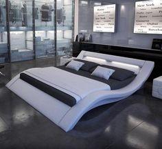 Tosh Modern Nerius White Platform Bed