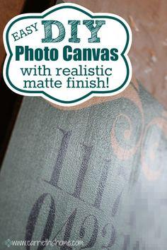 easy diy photo canvas