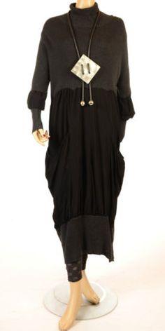 HEBBEDING 'POLAR' ANTHRACITE COMBI KNIT PULLOVER DRESS SZ. 2 & 3 RRP £279.00 | eBay