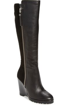 MICHAEL Michael Kors 'Clara' Wedge Boot (Women) (Narrow Calf) available at #Nordstrom