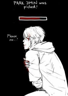 #BTSoutcast fanart Park Jimin  KILL ME OKAY JUST FUCKING KILL ME