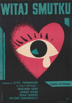 "Movie poster by W. Gorka, 1961, Polish version of ""Bonjour tristesse""."