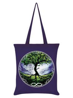 Roses and Fir Tree Pentacle Tote Bag