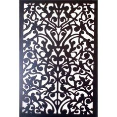 Home Depot carries this beautiful style of lattice. Acurio Latticeworks in. x 32 in. x 4 ft. Black Ginger Dove Vinyl Decor at The Home Depot Home Depot, Vinyl Decor, Do It Yourself Decoration, Decorative Screen Panels, Decorative Metal, Diy Headboards, Fence Panels, Vinyl Panels, Vinyl Windows