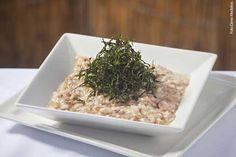 Bistrô Vila Rica (jantar) Risoto mineiro - Risoto de carne-seca e linguiça calabresa guarnecido com couve crocante